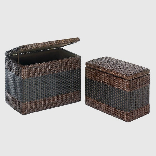 Henderson Woven Rectangular Trunks - Set of 2
