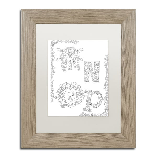 Hello Angel 'Letters & Words 27' Matted Framed Art