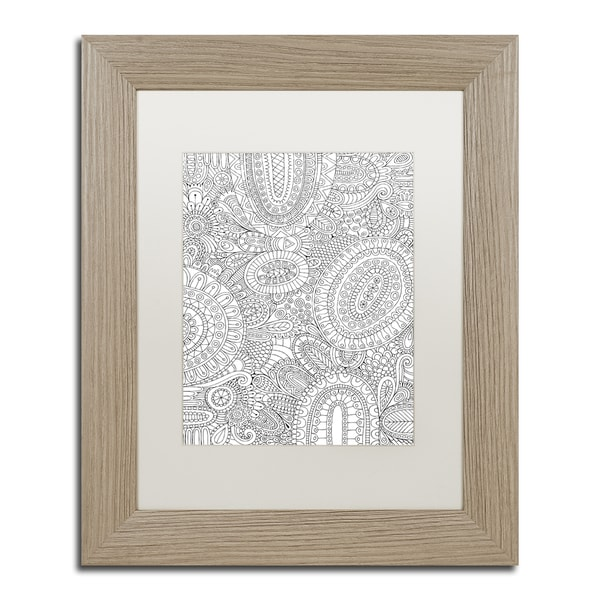 Hello Angel 'Doodles All Over' Matted Framed Art