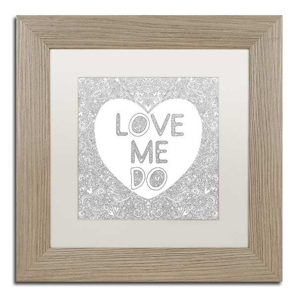 Hello Angel 'Love Me Do' Matted Framed Art