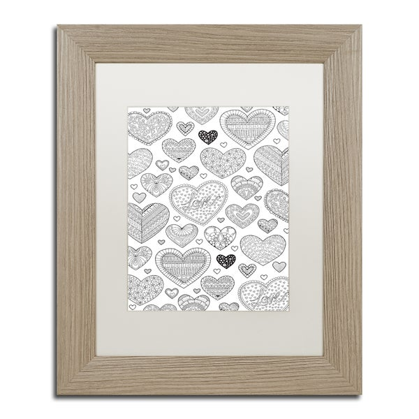 Hello Angel 'Hearts on Hearts' Matted Framed Art