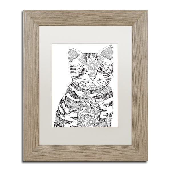 Hello Angel 'Miaow' Matted Framed Art