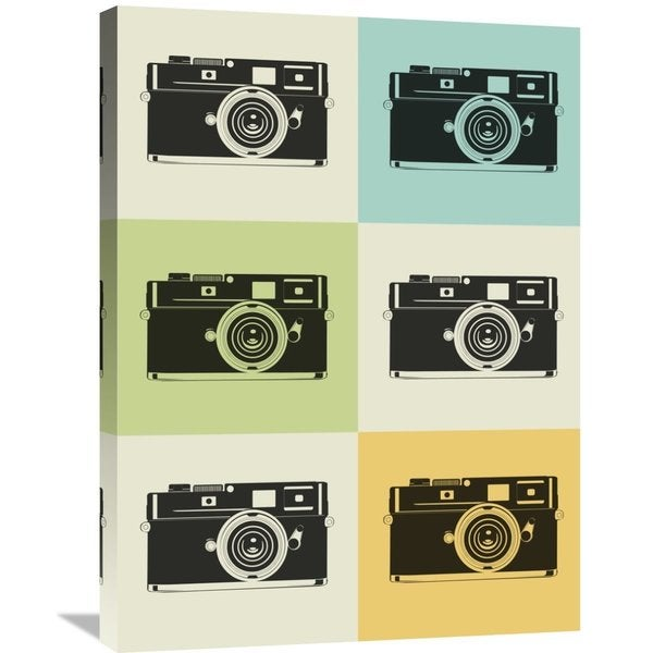 Naxart Studio 'Camera Grid Poster' Stretched Canvas Wall Art 22105207