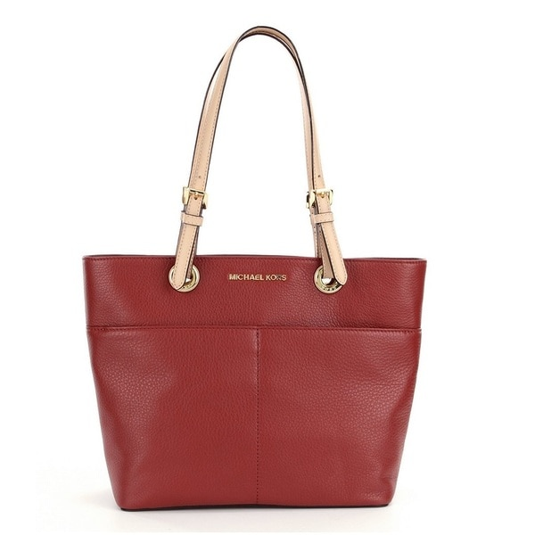 Michael Kors Bedford Brick Top Zip Pocket Handbag Tote Bag