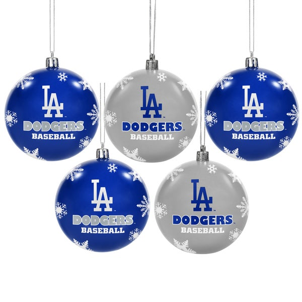 LA Dodgers 2016 MLB Shatterproof Ball Ornaments
