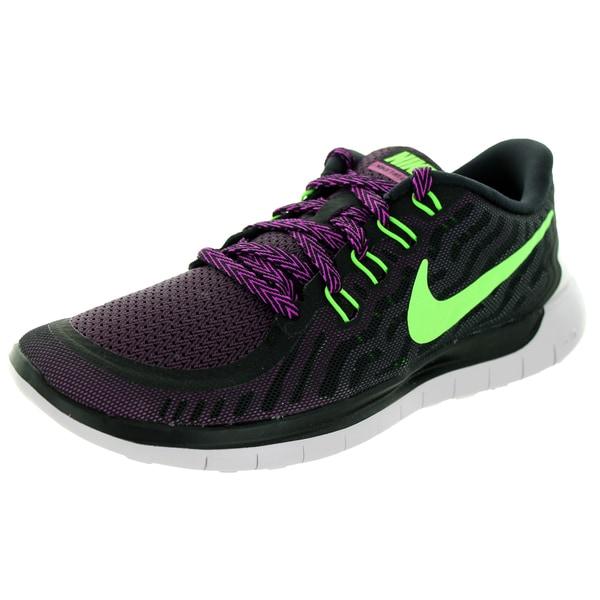 Nike Women's Free 5.0 Black/Flash Lime/Fuchsia Flash Running Shoe