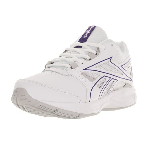 Reebok Women's DMX Max Stride White/Purple/Steel Running Shoe