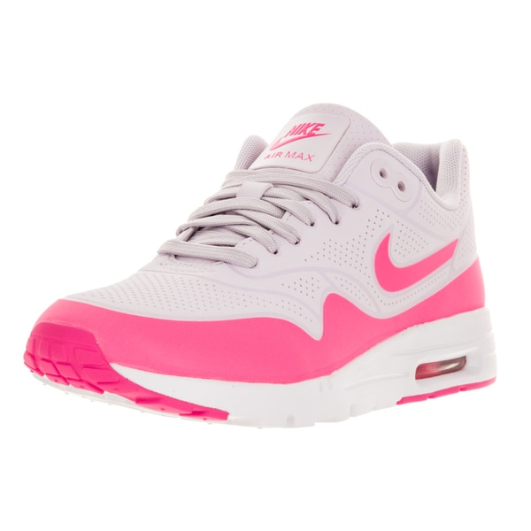 Nike Women's Air Max 1 Ultra Moire Bleached Lilac/Pink Blast/White Running Shoe