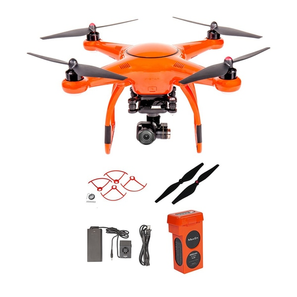 Autel X-Star Premium Drone + 4K Camera, Propeller Guards, Replacement Propellers, X-Star Battery & Charger (Orange)