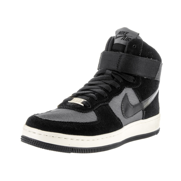 Nike Women's Nike AF1 Ultra Force Mid Black, and Dark Grey Suede Basketball Shoes