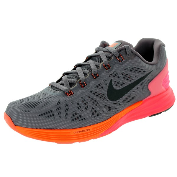 Nike Women's Lunarglide 6 Violet Ore, Black, and Hyper Crimson Synthetic Running Shoes