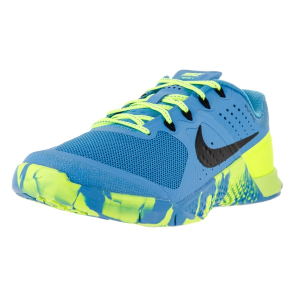 Nike Women's Metcon 2 Amp Blue Glow/Black Volt Black Textile Training Shoes