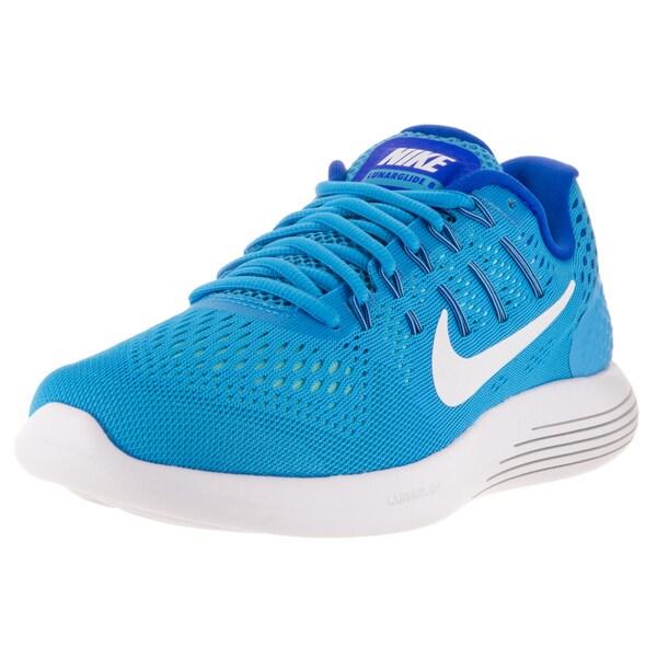 Nike Women's Lunarglide 8 Blue Plastic Running Shoe
