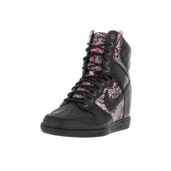 Nike Women's Dunk Sky Hi Sneakrbt Lib Qs Black/Black Solar Red Boots