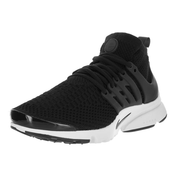 Nike Women's 'Air Presto Flyknit' Ultra Black and Black Fabric Running Shoes