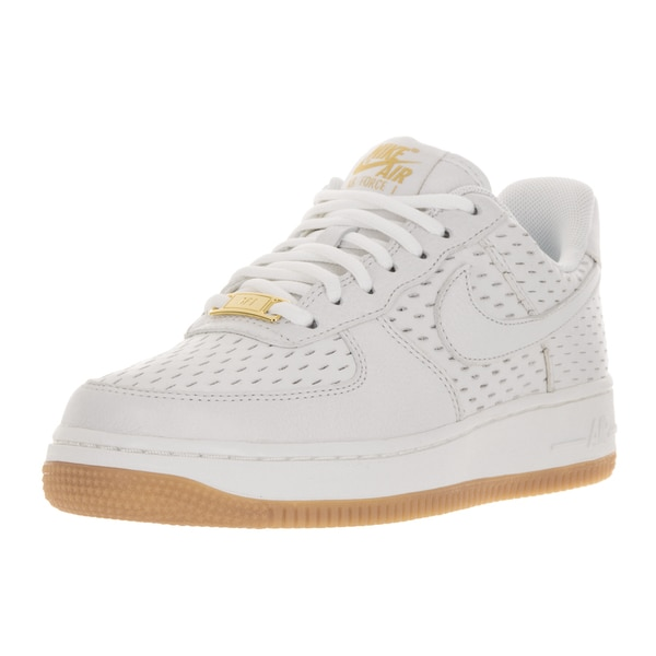 Nike Women's Air Force 1 '07 Prime White and Summit White Leather Basketball Shoes