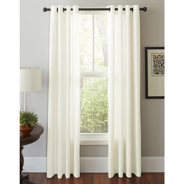 Pointehaven Cotton Solid-color Grommet Window Curtain Panel Pair 22119197