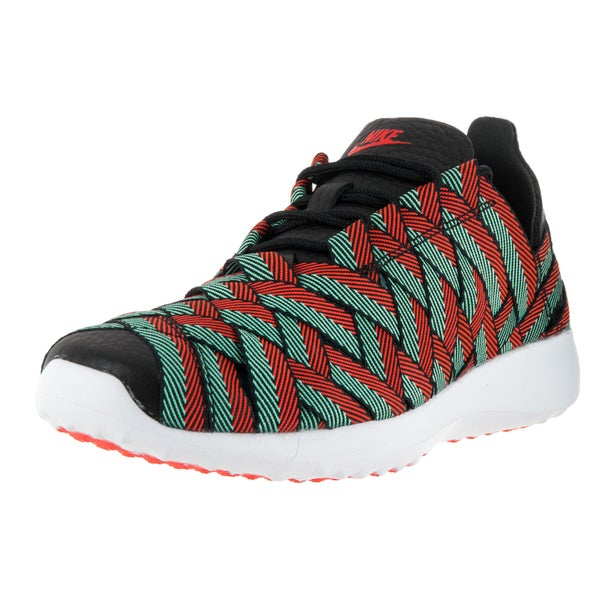 Nike Women's Juvenate Woven Black, Crimson, Turquoise, and White Textile Casual Shoes
