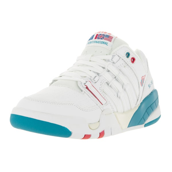 K-Swiss Women's SI-18 International Wht/Bludnbe/Rseofs Casual Shoe