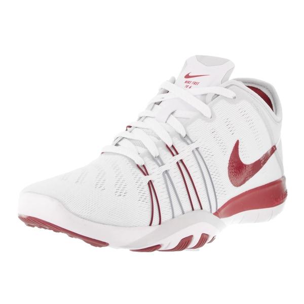 Nike Women's Free TR 6 White/Gym Red Pure Platinum Training Shoe