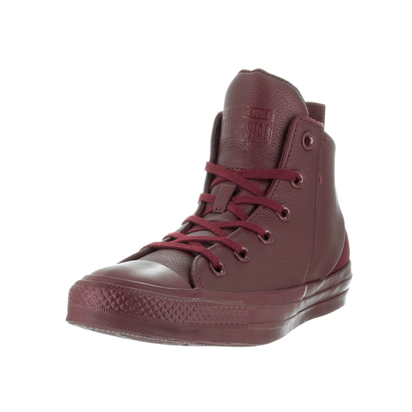 Converse Women's Chuck Taylor All Star Sloane Monochrome Deep Bordeaux Leather Basketball Shoes