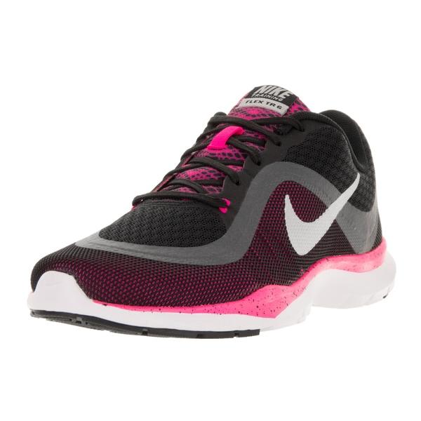 Nike Women's Flex Trainer 6 BTS Black/Metallic Silver/Pink Blast/Metallic H Training Shoe