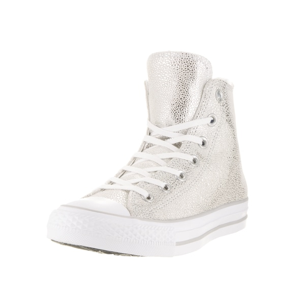 Converse Women's Chuck Taylor All Star Stingray Metallic Hi Pure Silver Basketball Shoe