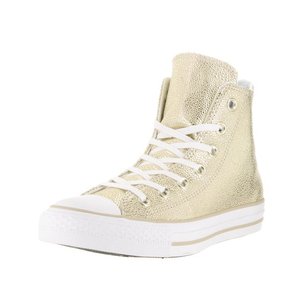 Converse Women's Chuck Taylor All Star Stingray Metallic Hi Light Gold/Black/White Basketball Shoes
