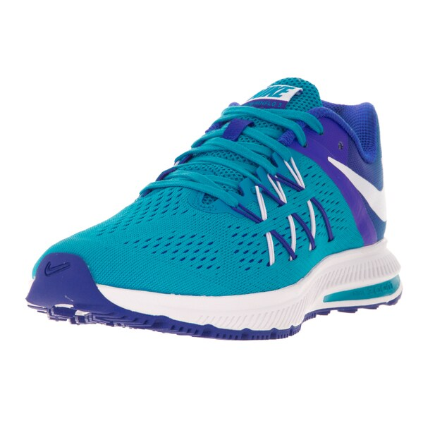 Nike Women's Zoom Winflo 3 Blue Glow, White, and Racer Blue Synthetic Running Shoes