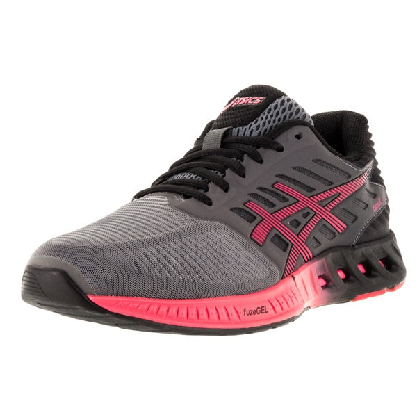 Asics Women's 'FuzeX' Titanium, Azalea, and Black Plastic Running Shoes