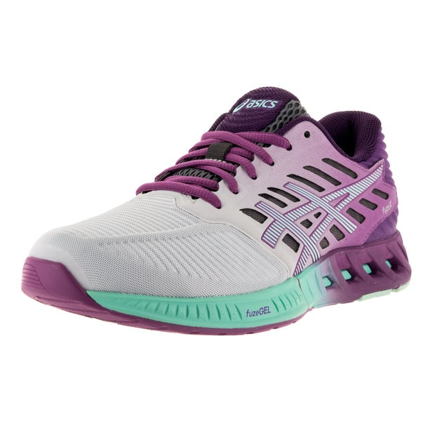Asics Women's FuzeX Silver/Mint/Orchid Running Shoe