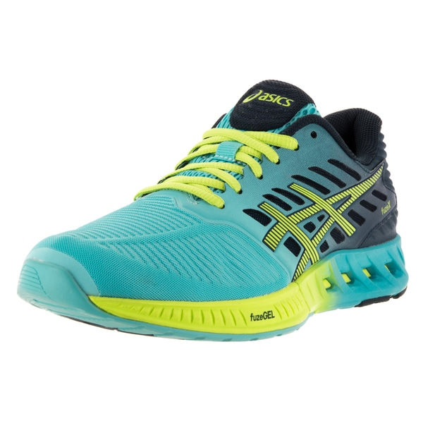 Asics Women's FuzeX Turquoise/Green Plastic Running Shoe