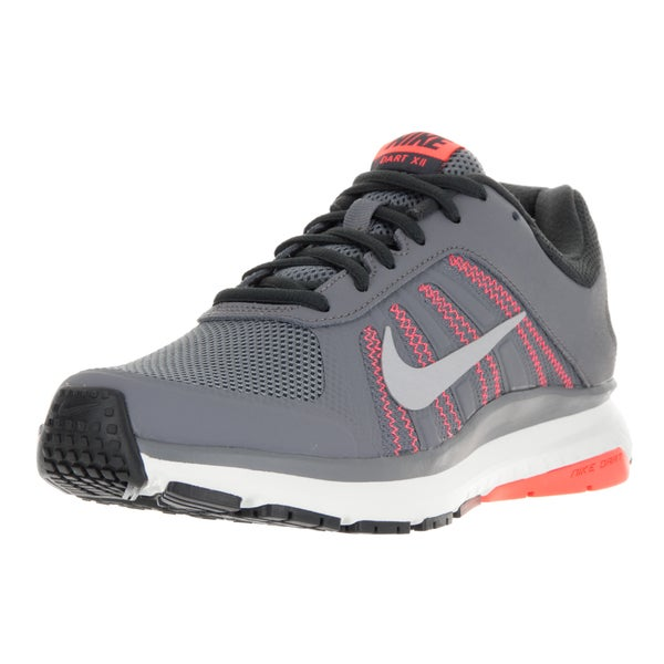 Nike Women's Dart 12 Grey and Pink Plastic Running Shoes