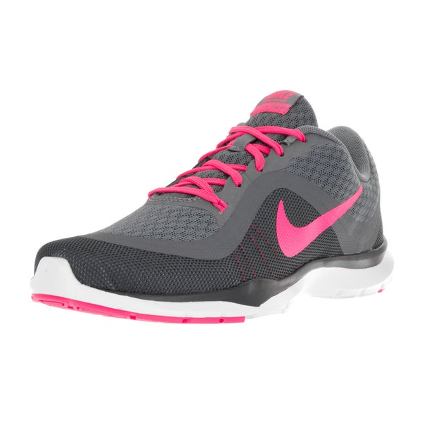 Nike Women's Flex Trainer 6 Clear Grey/Pink Pink Blast/Dark Grey/Anthracite Training Shoe 22120373