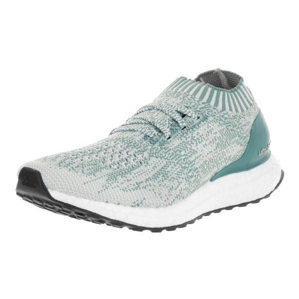 Adidas Women's Ultra Boost Uncaged Green and White Textile Running Shoes 22120441