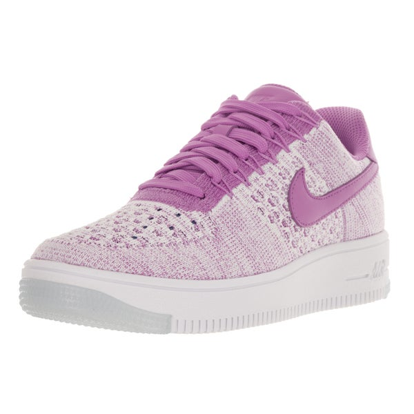 Nike Women's AF1 Flyknit Fuchsia Fabric Walking Shoe 22120587
