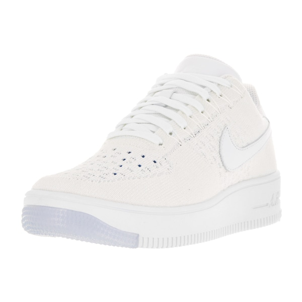 Nike Women's AF1 Flyknit Low White Casual Shoe