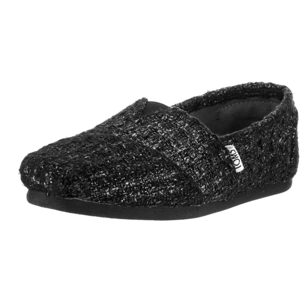 Toms Women's Classic Black Glitter Wool Casual Shoes