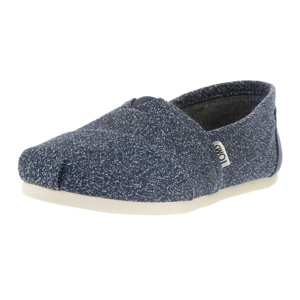 Toms Women's Classic Marl Blue Fabric Casual Shoe