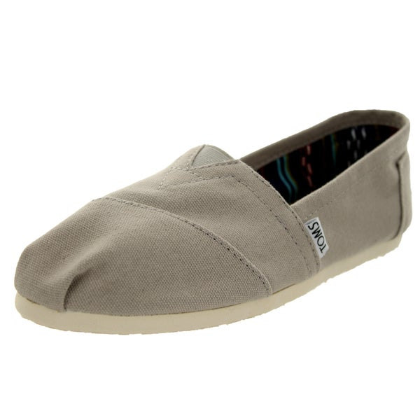 Toms Women's Classics Light Grey Canvas Seasonal Casual Shoe