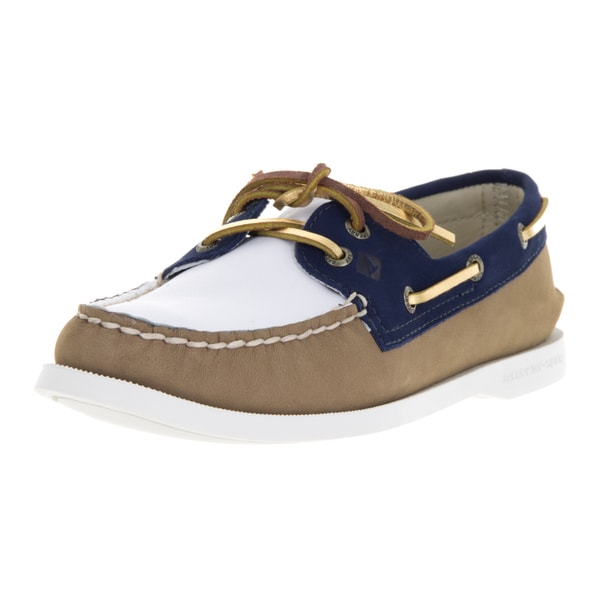 Sperry Top-Sider Women's Authentic Original 2-Eye Miss Match Wht/Nvy Boat Shoe