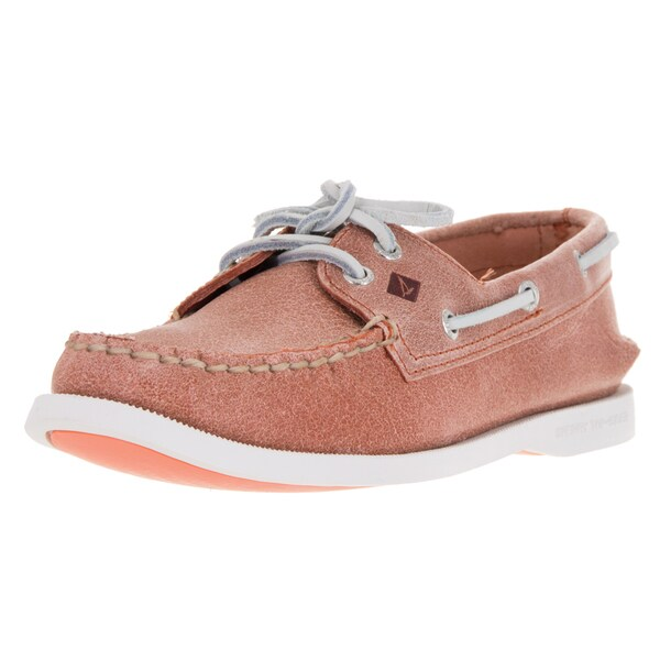 Sperry Women's Coral Leather 2-Eye White Cap Top-sider Boat Shoe