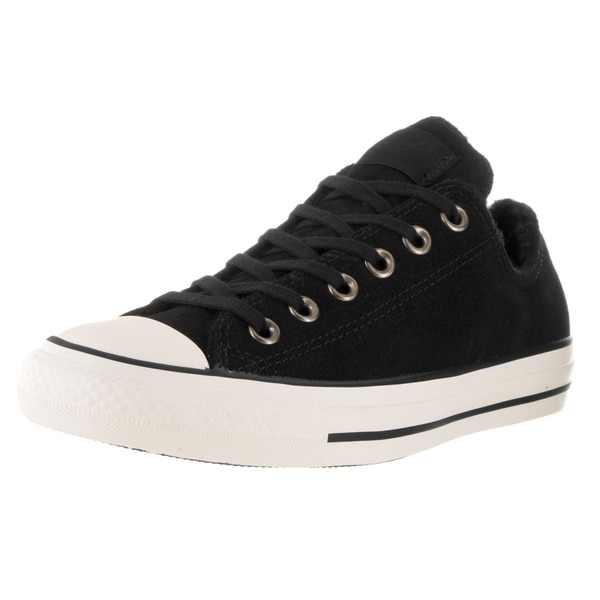 Converse Women's Chuck Taylor All Star Suede+Shea Black and Egret Suede Casual Shoes