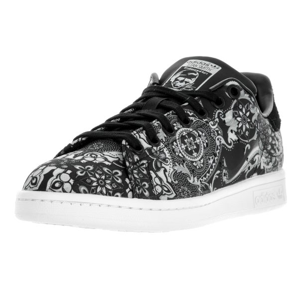 Adidas Women's Stan Smith W Originals Black and White Textile Casual Shoes