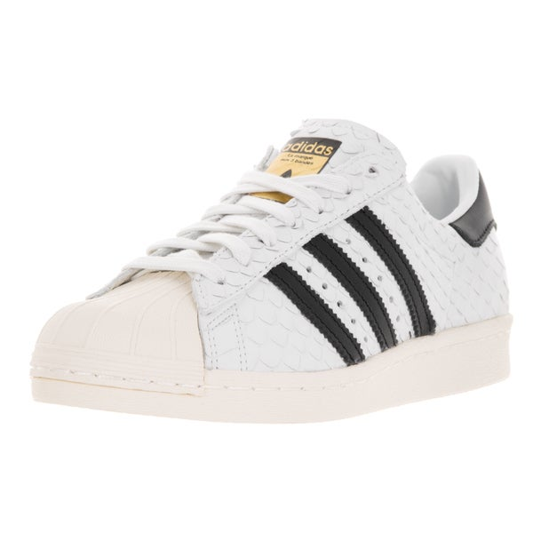 Adidas Women's Superstar 80s W Originals White and Black Leather Casual Shoe
