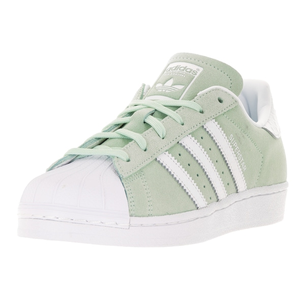 Adidas Women's Superstar Originals Sage/White Suede Casual Shoe