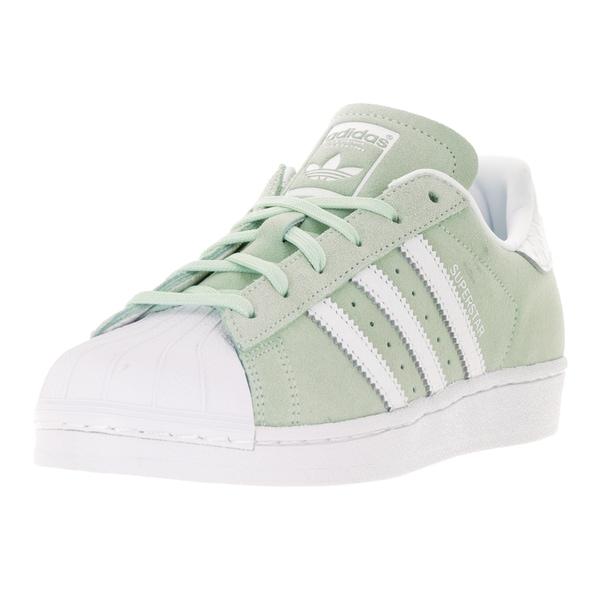 Adidas Women's Superstar Originals Sage/White Suede Casual Shoe