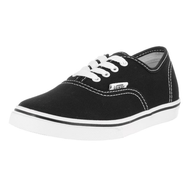 Vans Kids Authentic Lo Pro Black/White Canvas Skate Shoe