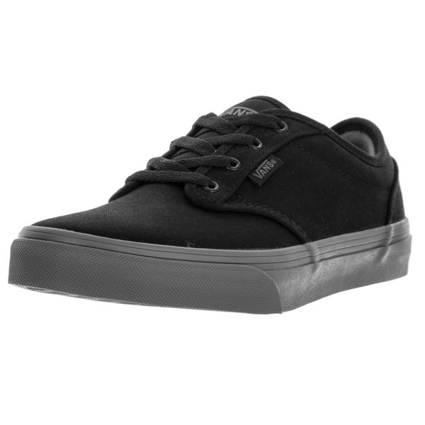 Vans Kids Atwood (Check Liner) Black/Gray Skate Shoe