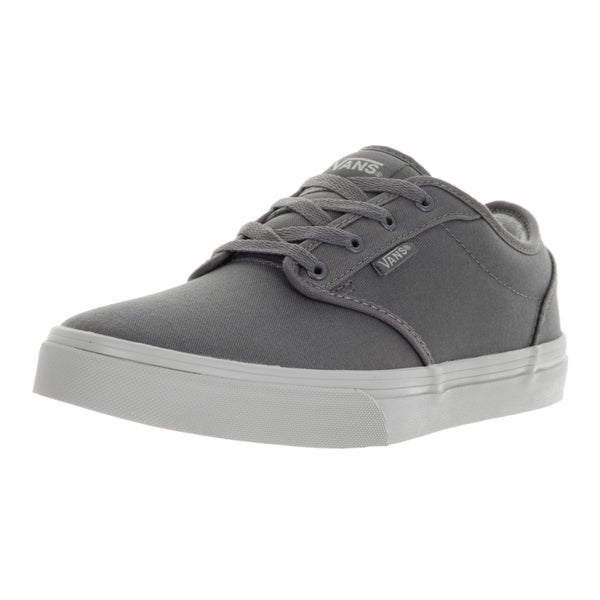 Vans Kids' Atwood Grey/ Light Grey Check Liner Skate Shoes